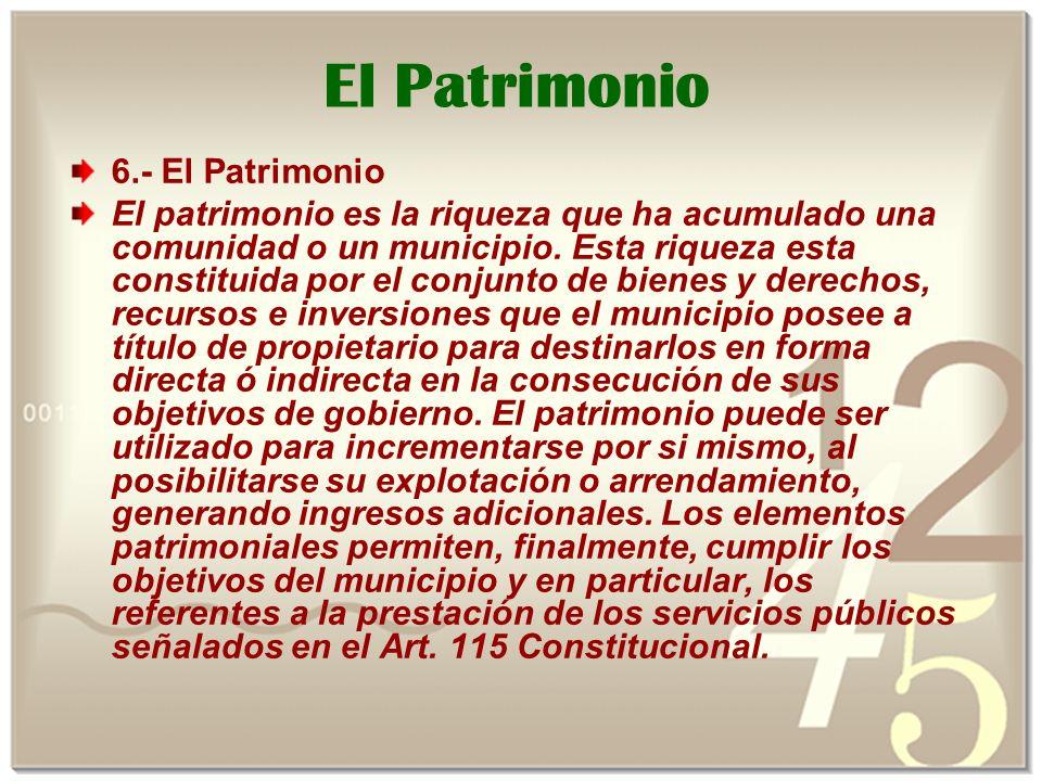 El Patrimonio 6.- El Patrimonio