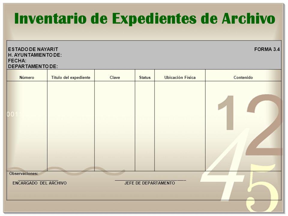 Inventario de Expedientes de Archivo