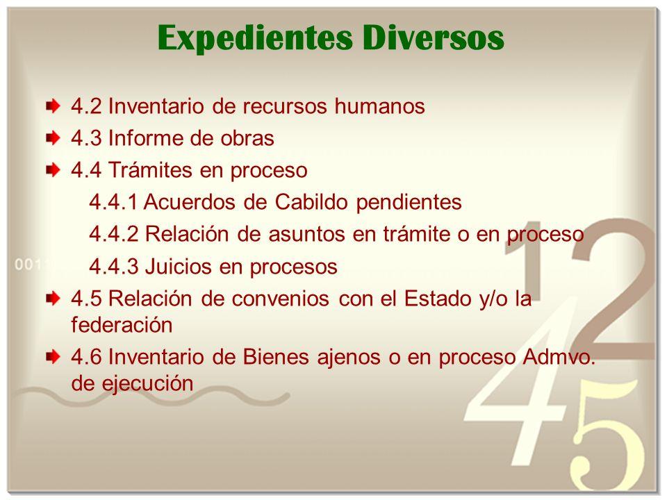 Expedientes Diversos 4.2 Inventario de recursos humanos