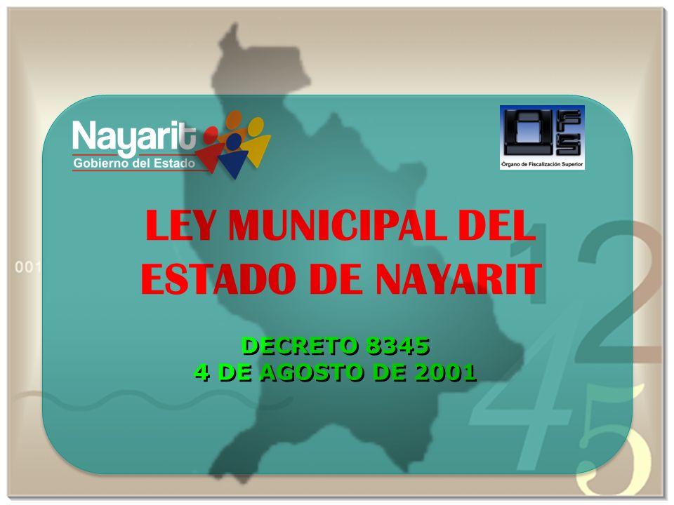 LEY MUNICIPAL DEL ESTADO DE NAYARIT