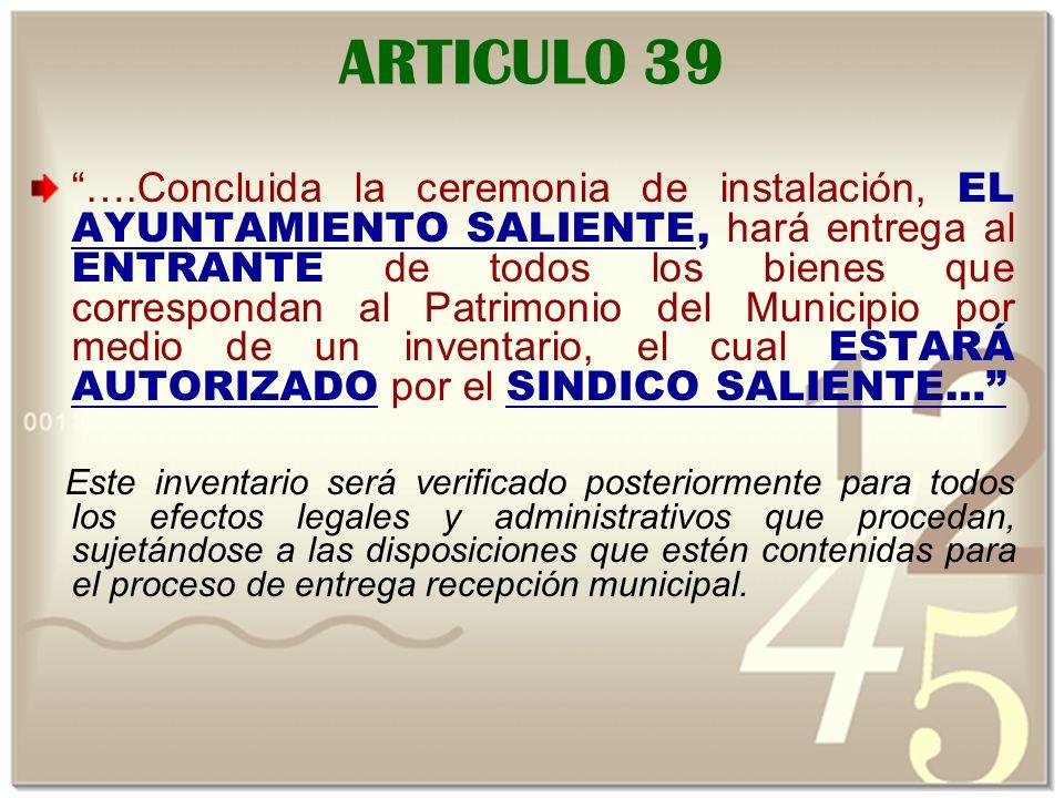 ARTICULO 39
