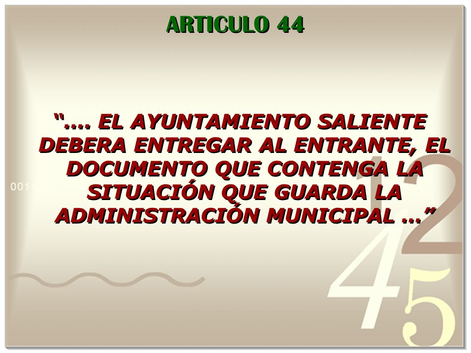 ARTICULO 44