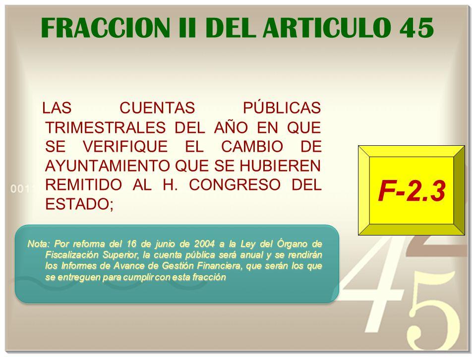 FRACCION II DEL ARTICULO 45