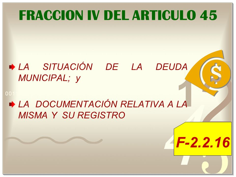 FRACCION IV DEL ARTICULO 45
