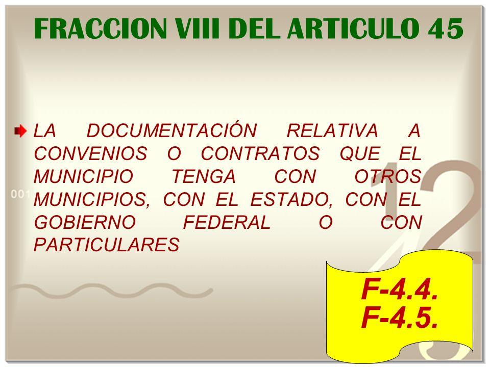 FRACCION VIII DEL ARTICULO 45