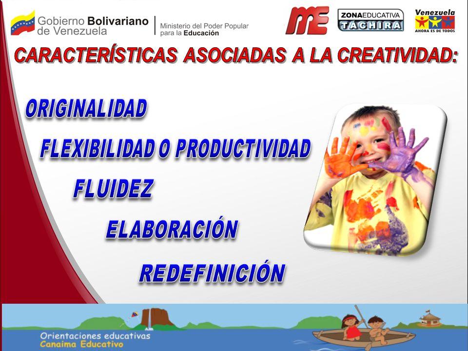 CARACTERÍSTICAS ASOCIADAS A LA CREATIVIDAD: