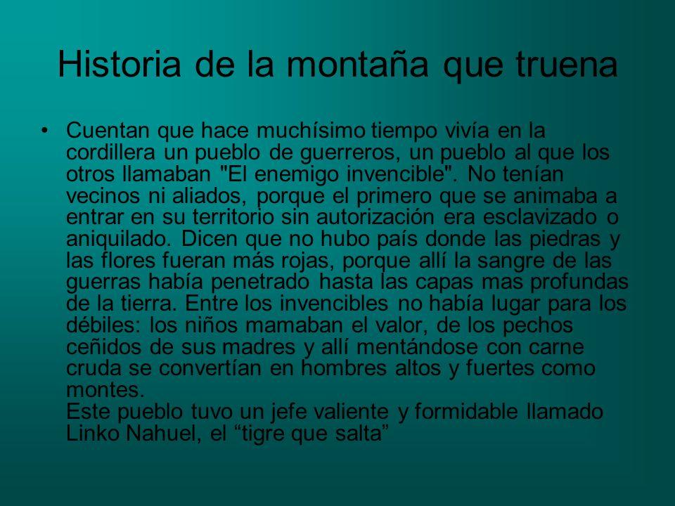 Historia de la montaña que truena