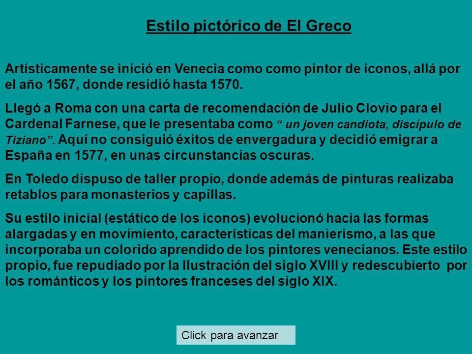 Estilo pictórico de El Greco