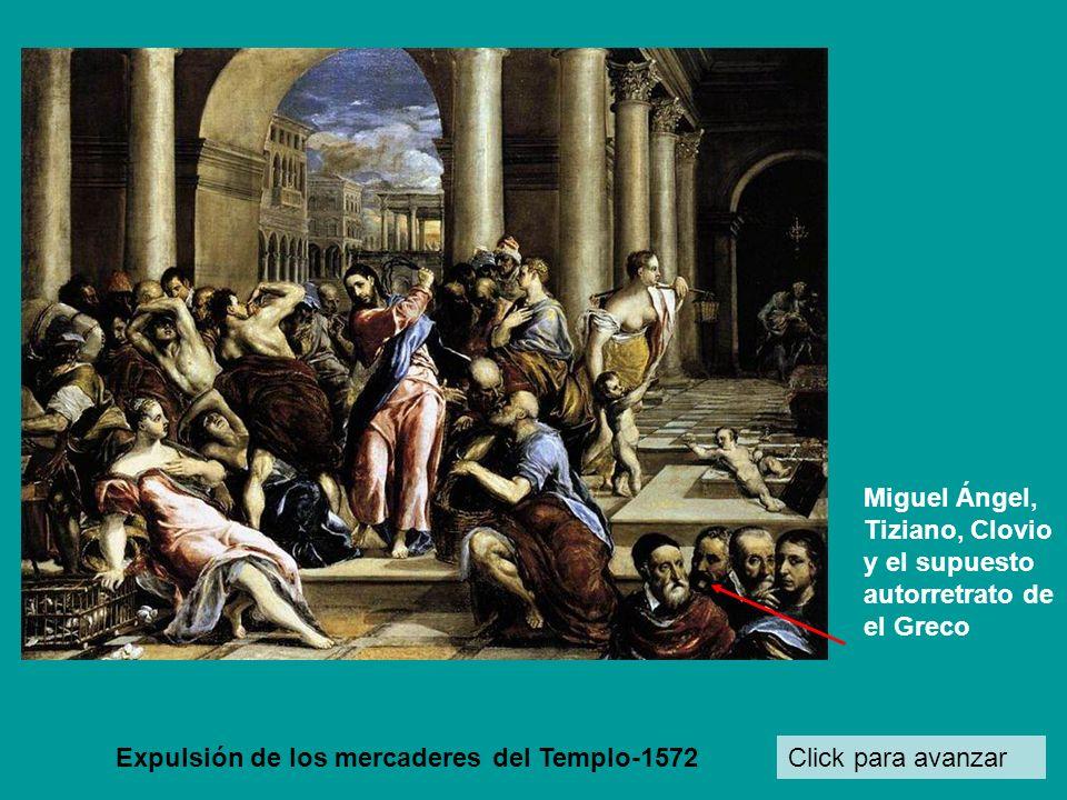 Miguel Ángel, Tiziano, Clovio y el supuesto autorretrato de el Greco
