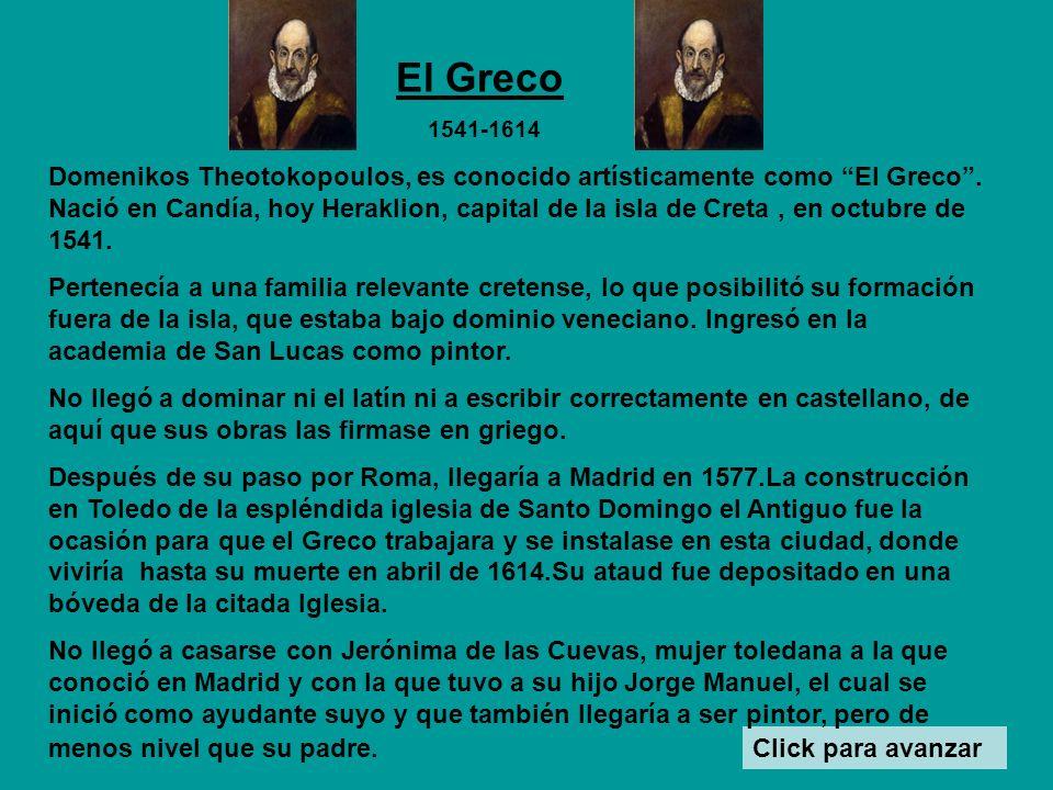 El Greco 1541-1614.
