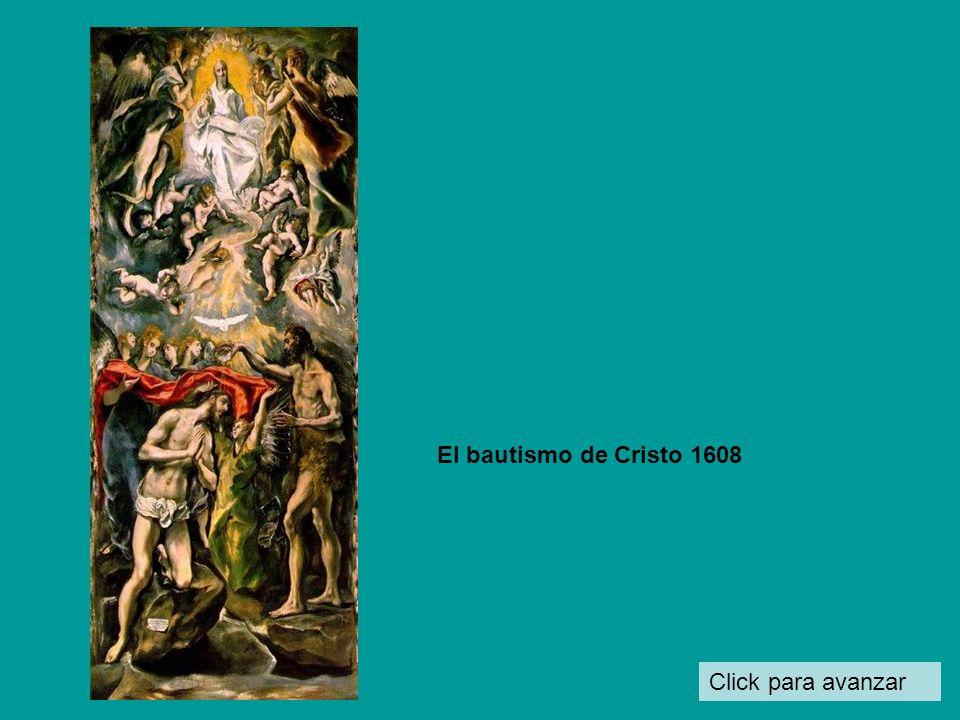 El bautismo de Cristo 1608 Click para avanzar