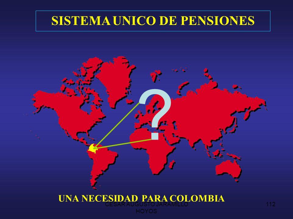 SISTEMA UNICO DE PENSIONES UNA NECESIDAD PARA COLOMBIA