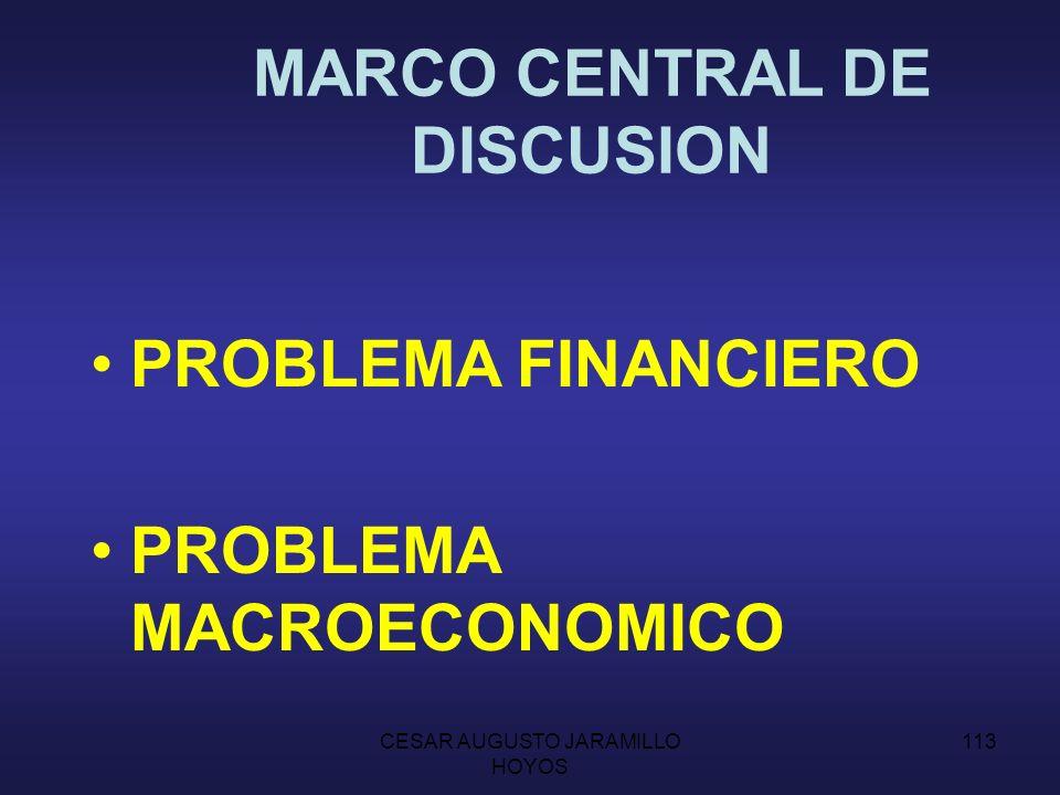 MARCO CENTRAL DE DISCUSION