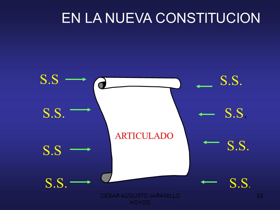 EN LA NUEVA CONSTITUCION