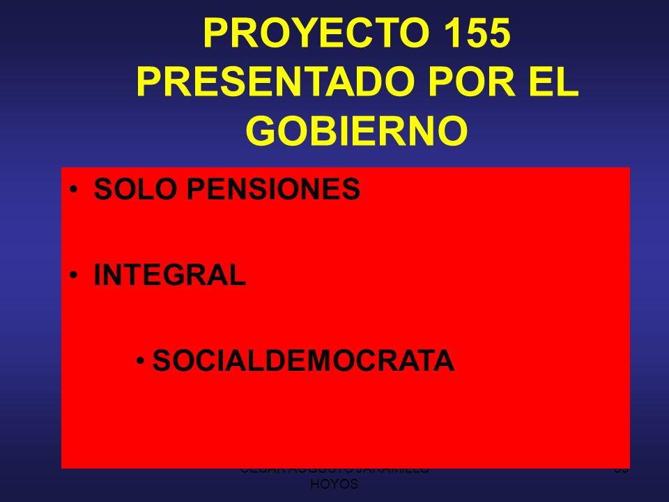 PROYECTO 155 PRESENTADO POR EL GOBIERNO