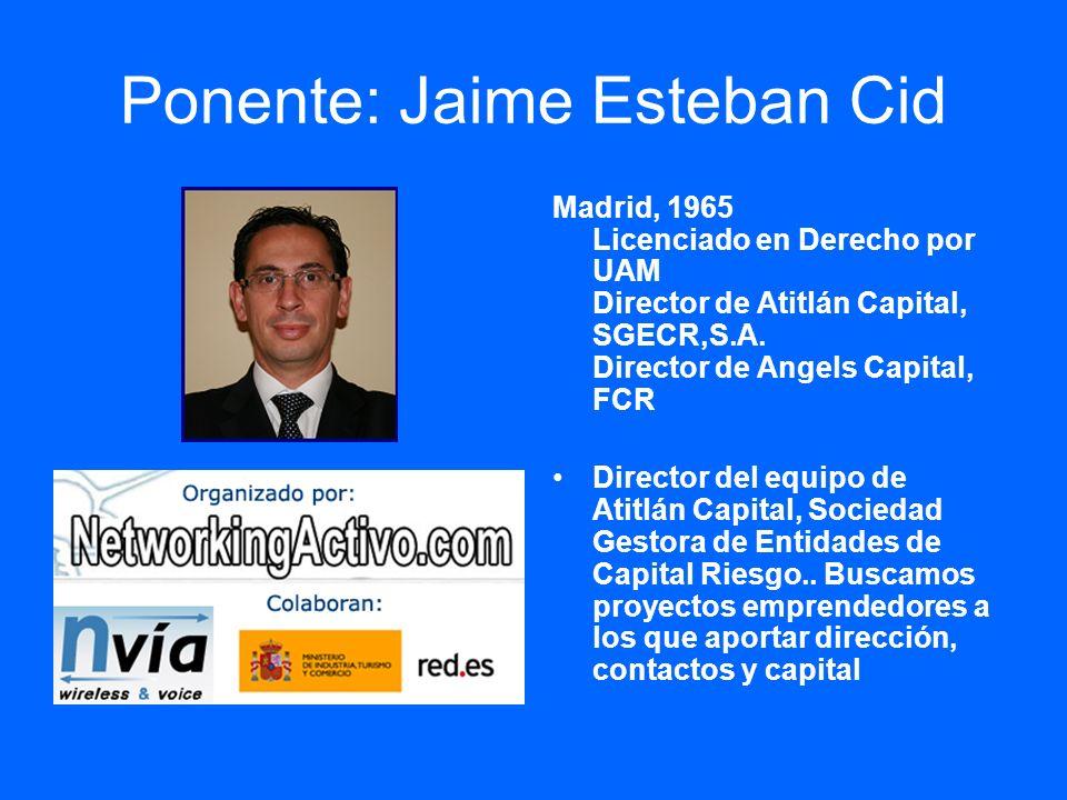 Ponente: Jaime Esteban Cid