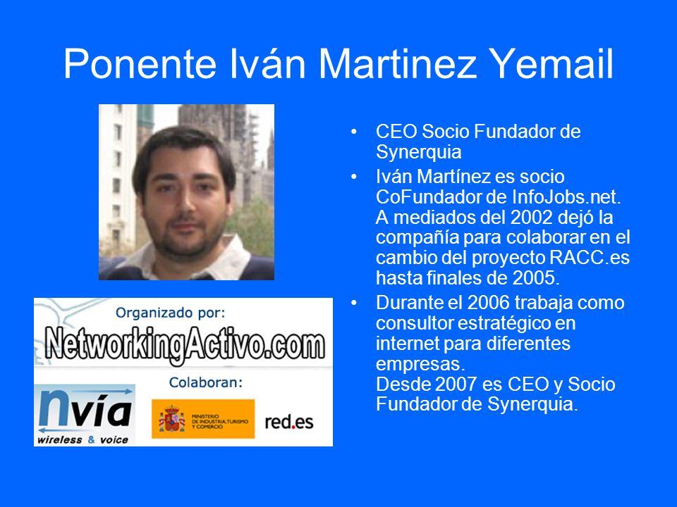 Ponente Iván Martinez Yemail