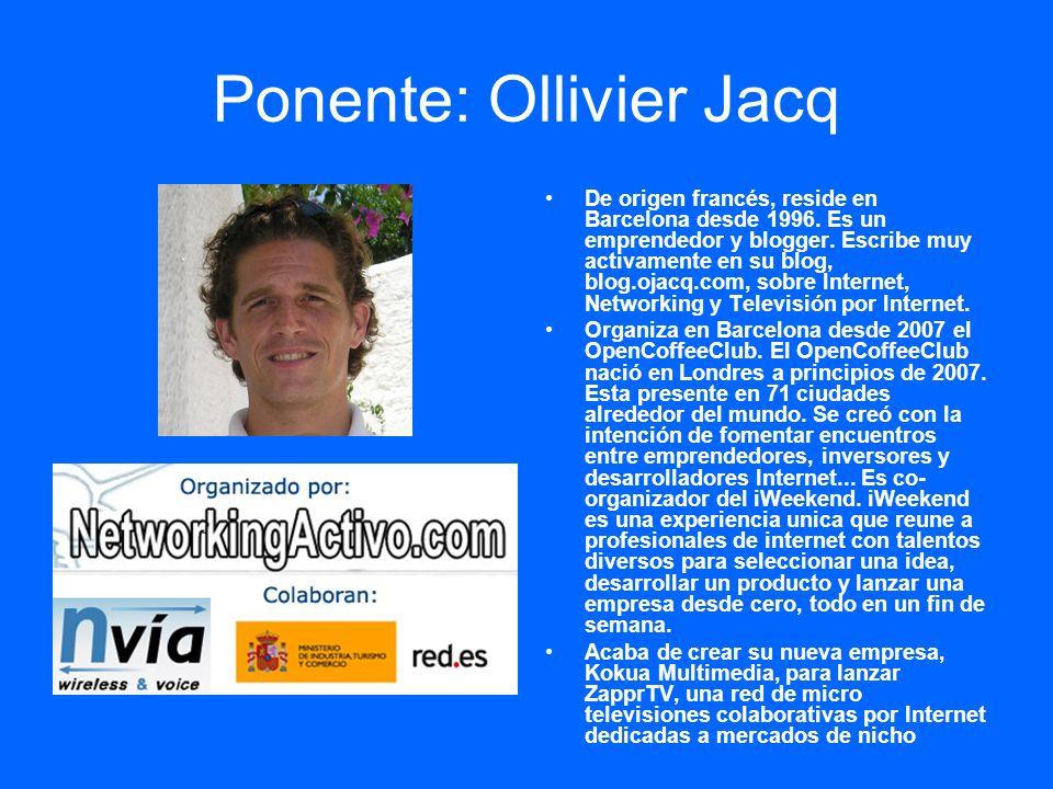 Ponente: Ollivier Jacq