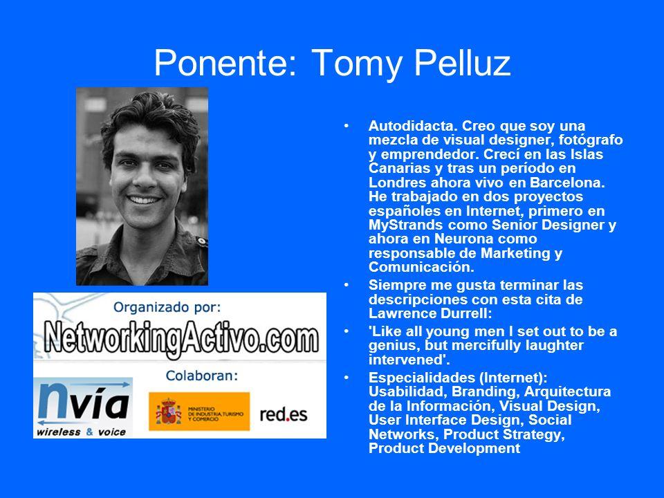 Ponente: Tomy Pelluz