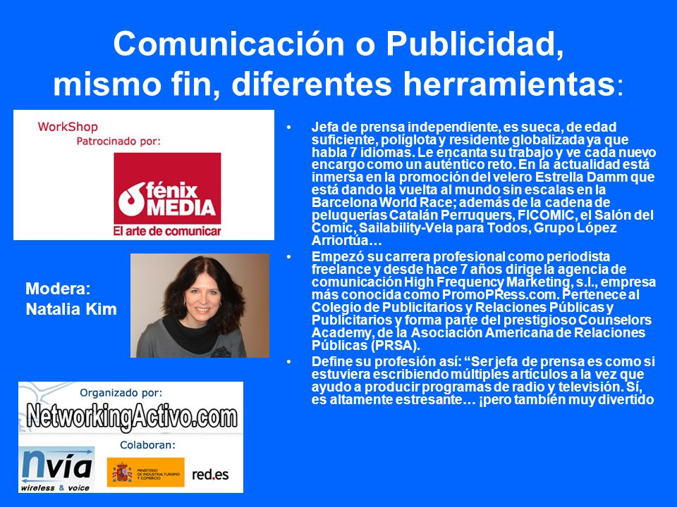 Comunicación o Publicidad, mismo fin, diferentes herramientas: