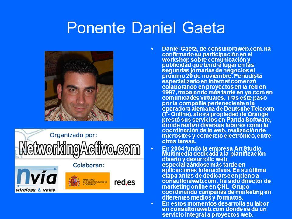 Ponente Daniel Gaeta