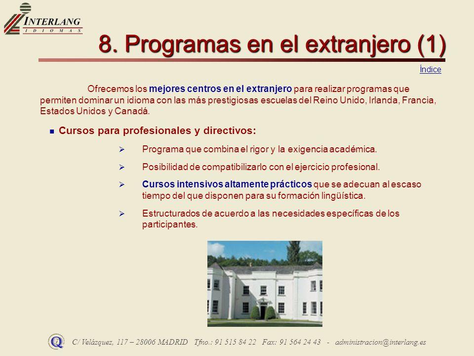 8. Programas en el extranjero (1)