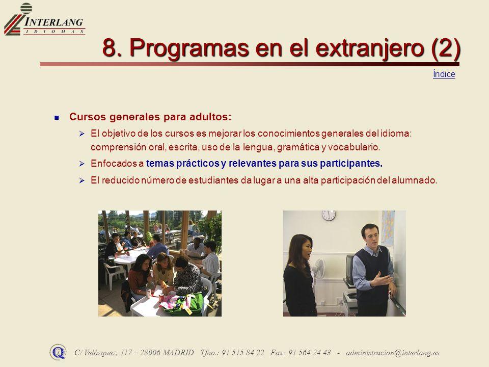 8. Programas en el extranjero (2)