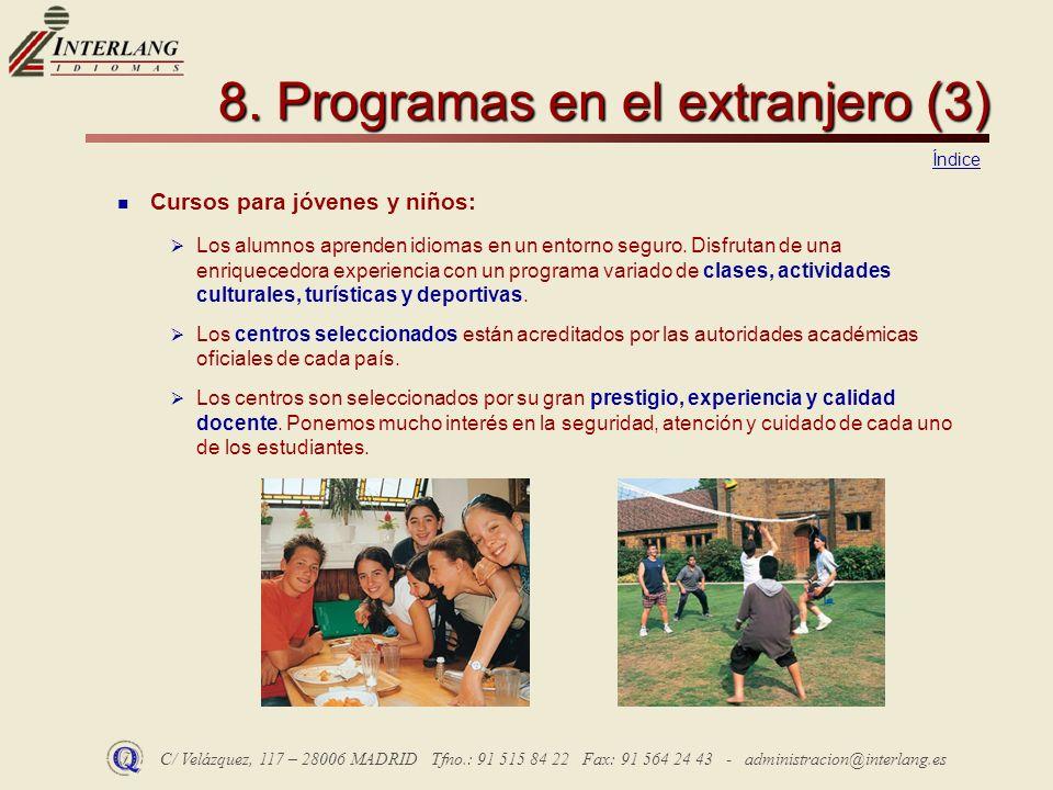 8. Programas en el extranjero (3)