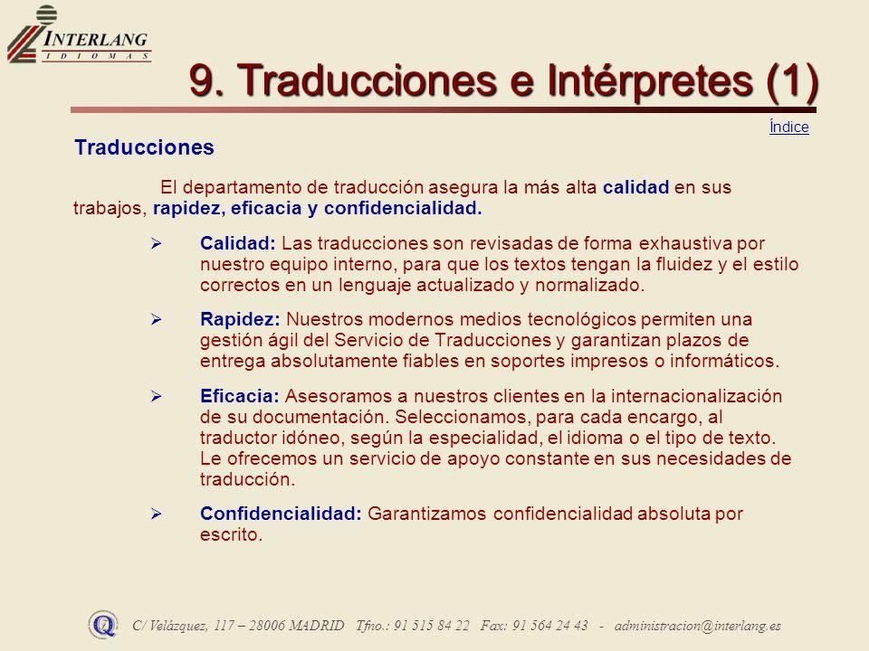 9. Traducciones e Intérpretes (1)