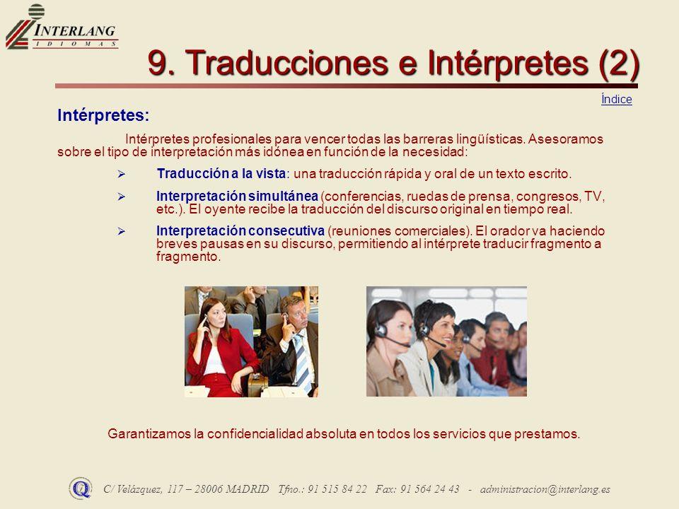 9. Traducciones e Intérpretes (2)