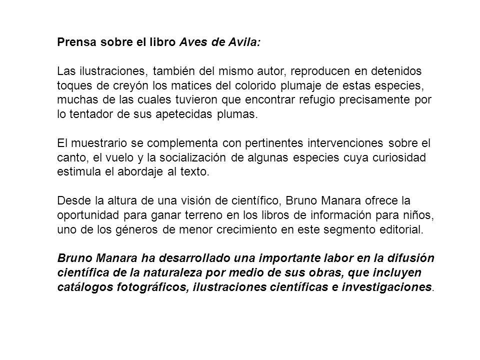 Prensa sobre el libro Aves de Avila: