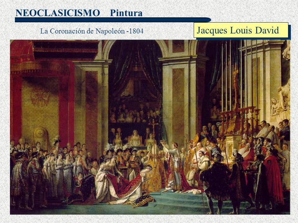 Pintura Jacques Louis David La Coronación de Napoleón -1804
