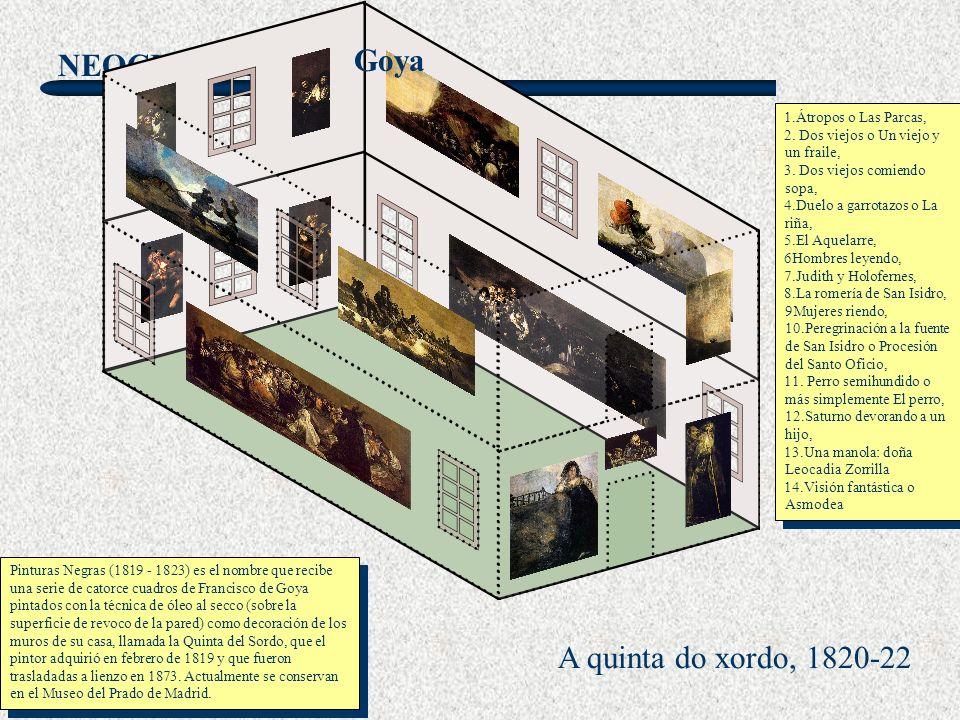 Goya A quinta do xordo, 1820-22 1.Átropos o Las Parcas,