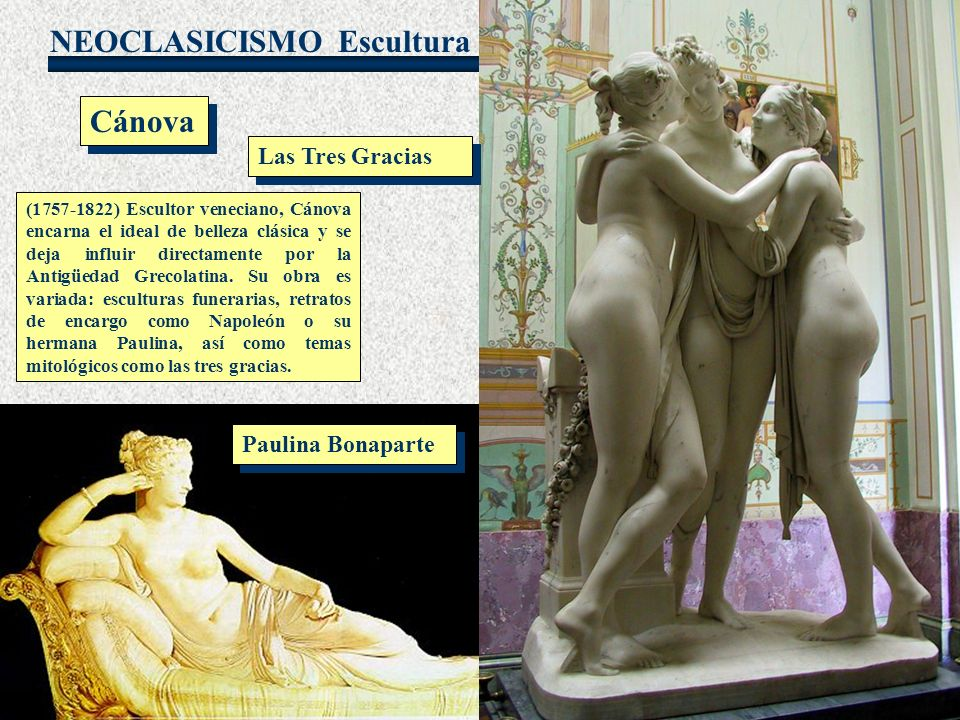 Escultura Cánova Las Tres Gracias Paulina Bonaparte