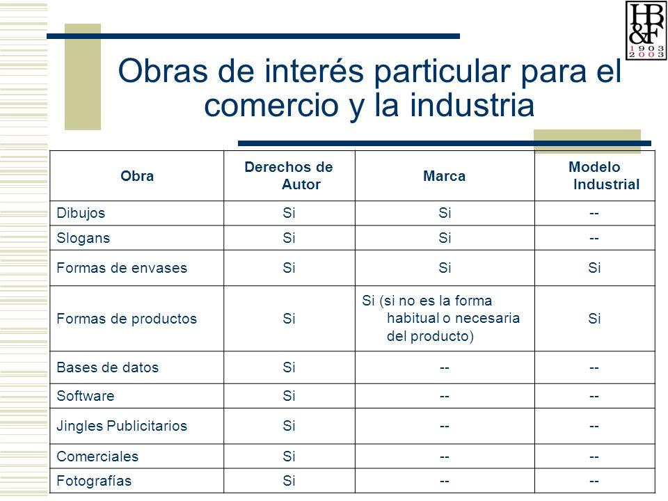 Obras de interés particular para el comercio y la industria
