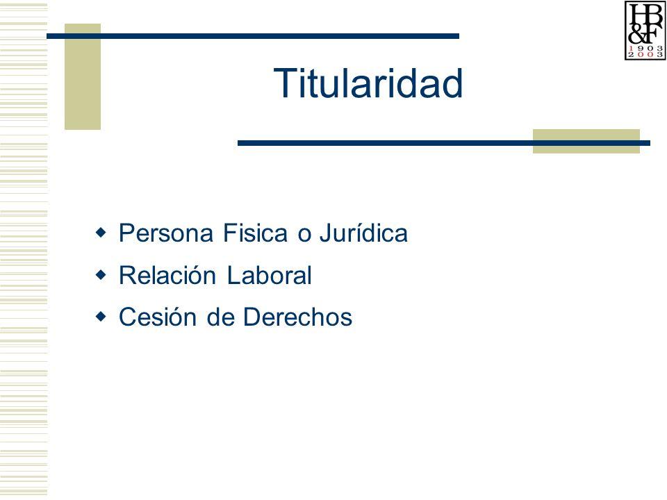 Titularidad Persona Fisica o Jurídica Relación Laboral