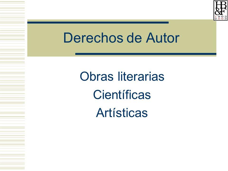 Obras literarias Científicas Artísticas