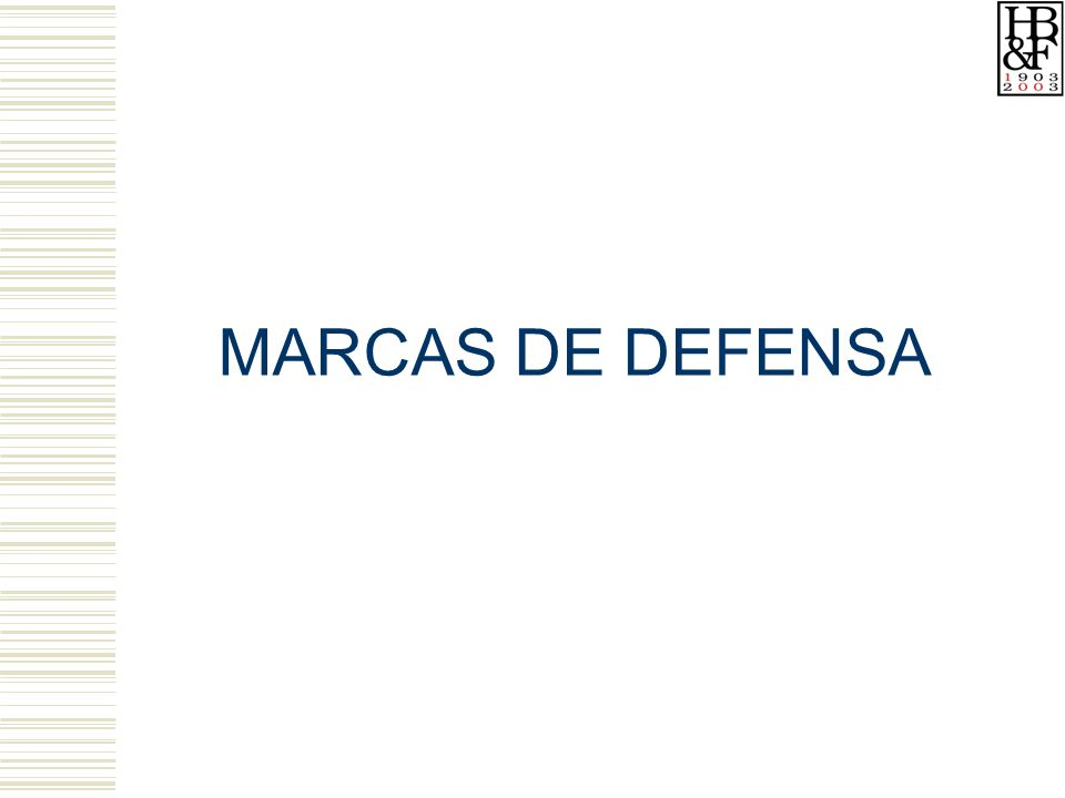 MARCAS DE DEFENSA