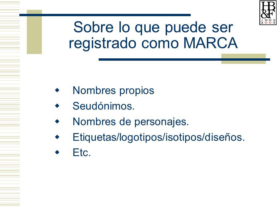 Sobre lo que puede ser registrado como MARCA