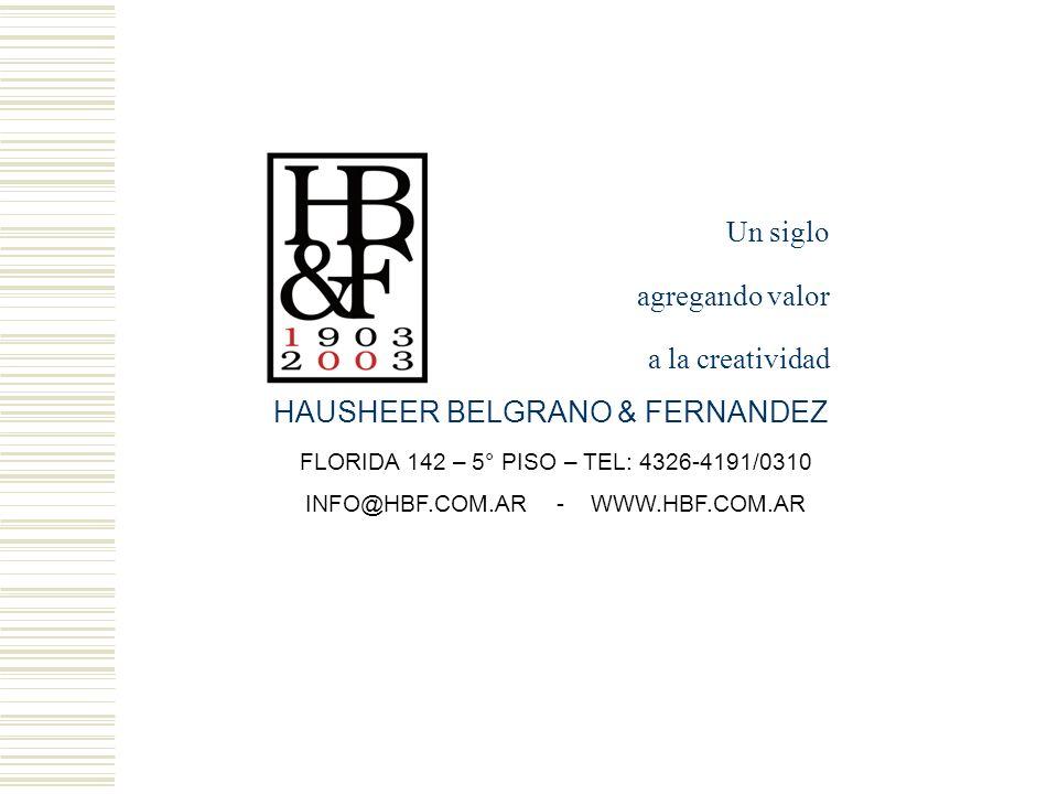 HAUSHEER BELGRANO & FERNANDEZ