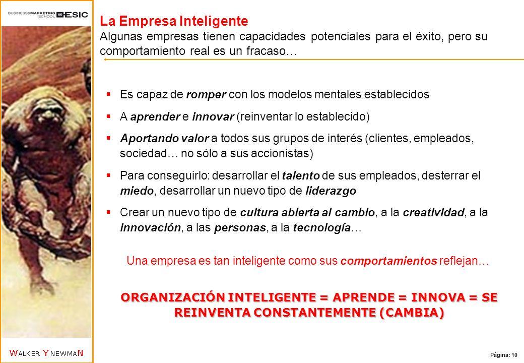 Una empresa es tan inteligente como sus comportamientos reflejan…