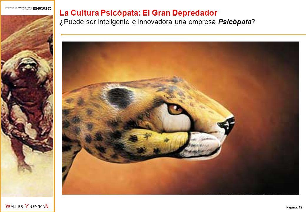 La Cultura Psicópata: El Gran Depredador ¿Puede ser inteligente e innovadora una empresa Psicópata