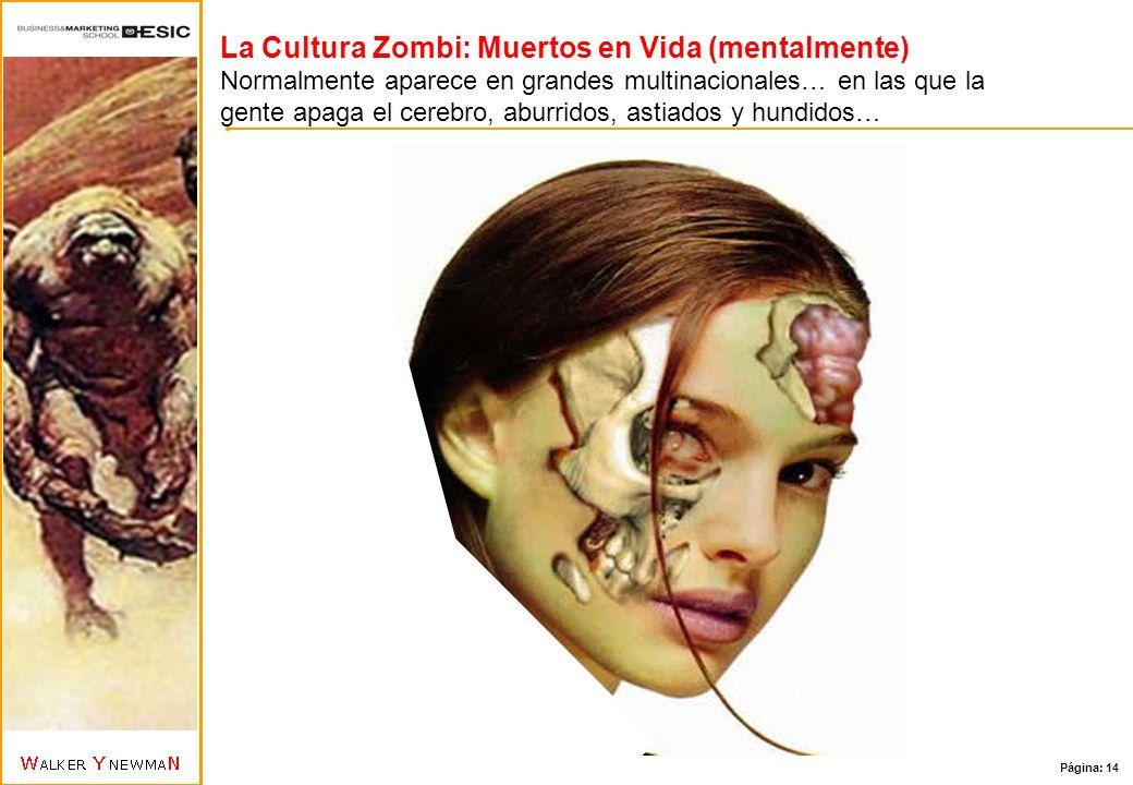 La Cultura Zombi: Muertos en Vida (mentalmente) Normalmente aparece en grandes multinacionales… en las que la gente apaga el cerebro, aburridos, astiados y hundidos…