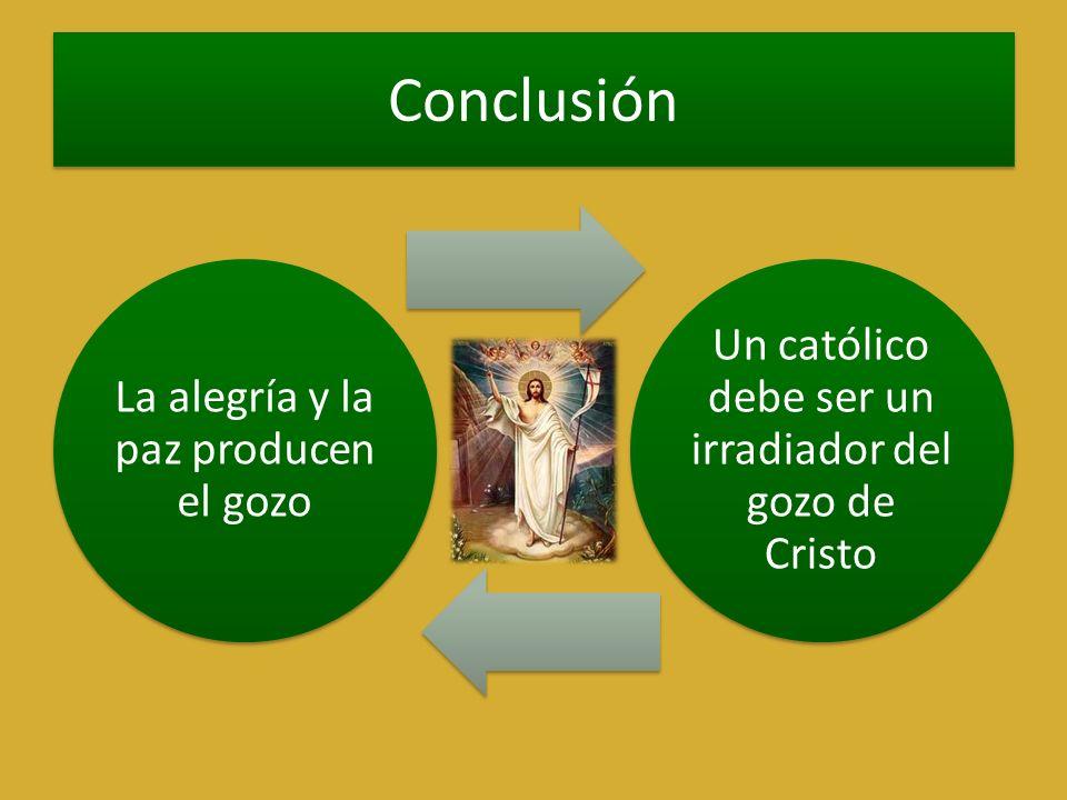 Conclusión La alegría y la paz producen el gozo