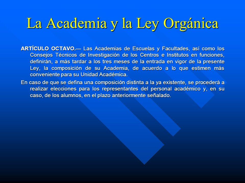 La Academia y la Ley Orgánica