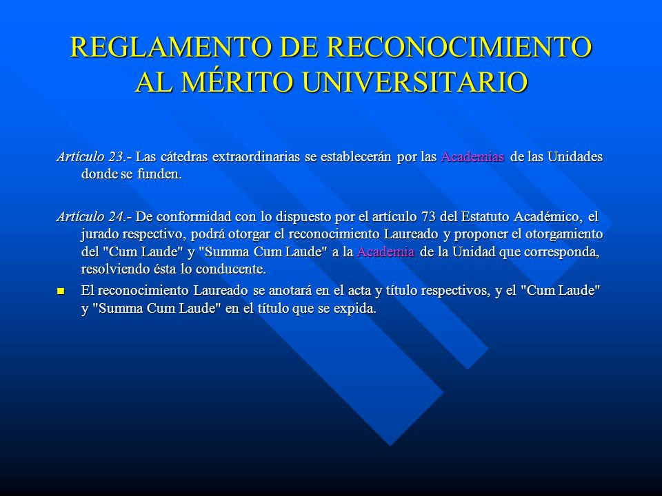 REGLAMENTO DE RECONOCIMIENTO AL MÉRITO UNIVERSITARIO