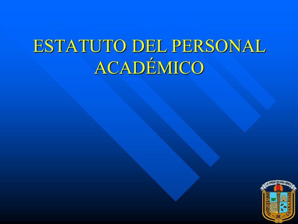 ESTATUTO DEL PERSONAL ACADÉMICO