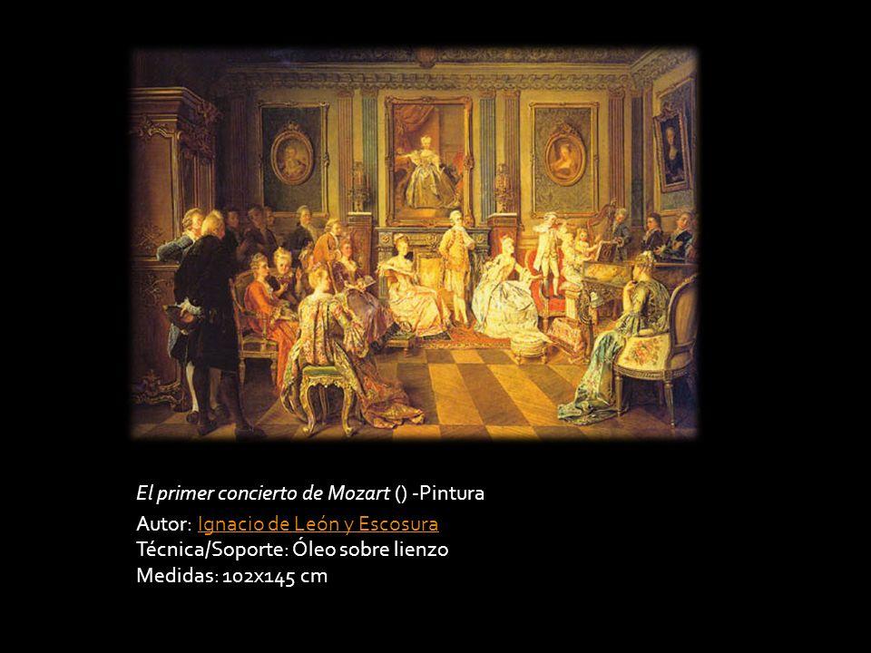 El primer concierto de Mozart () -Pintura