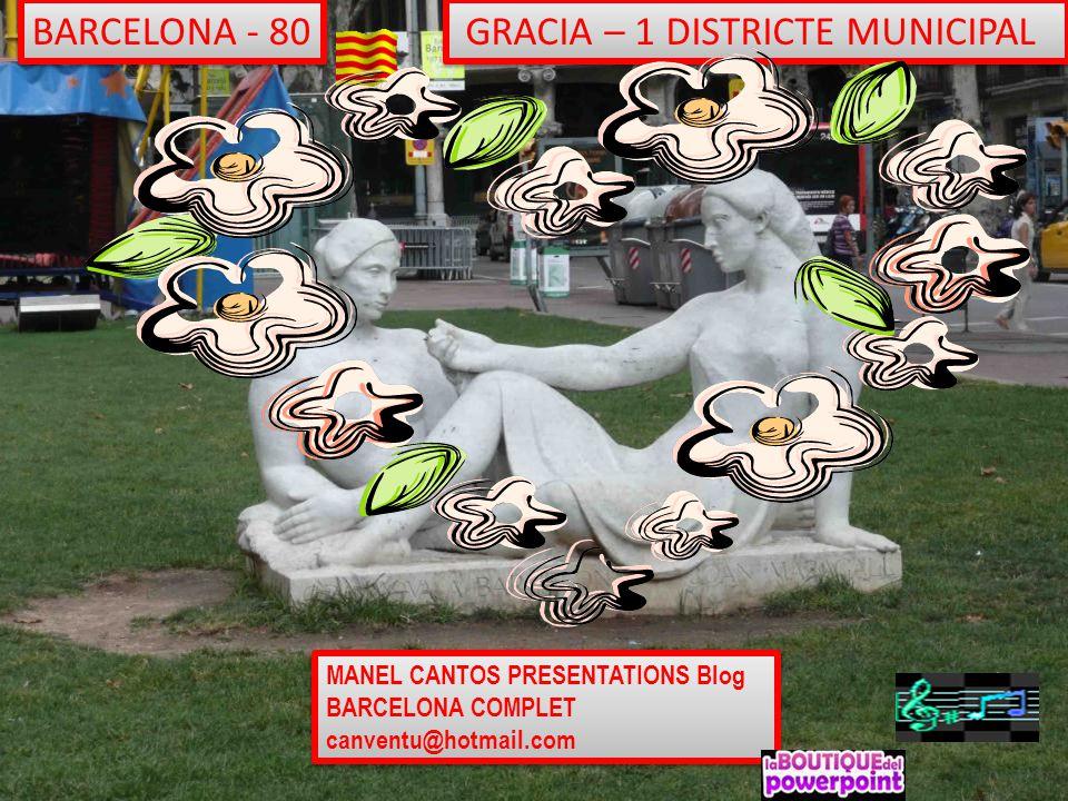 GRACIA – 1 DISTRICTE MUNICIPAL
