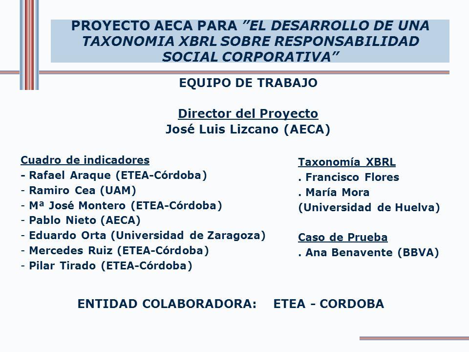 José Luis Lizcano (AECA) ENTIDAD COLABORADORA: ETEA - CORDOBA